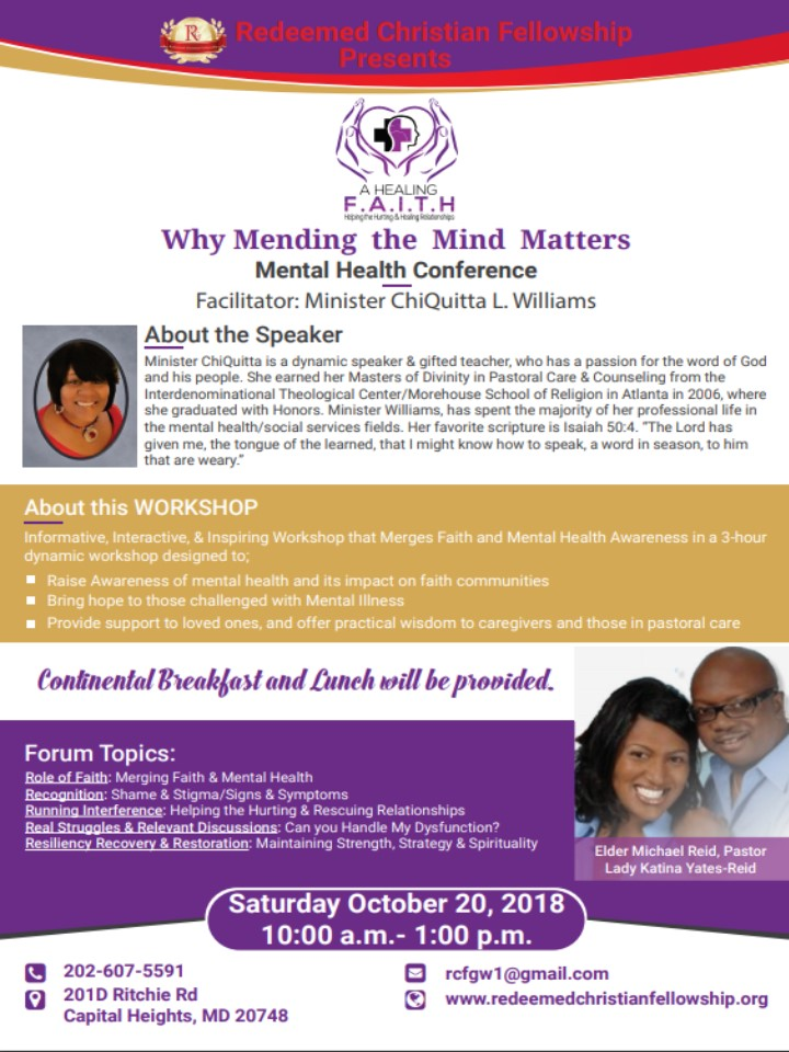 Mending the Mind Matters: A FREE Mental Health Conference
